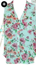 Floral Printed Sleeveless Shirt
