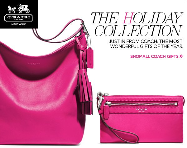The Holiday Collection. Just in from Coach: The most wonderful gifts of the year. Shop all Coach gifts.