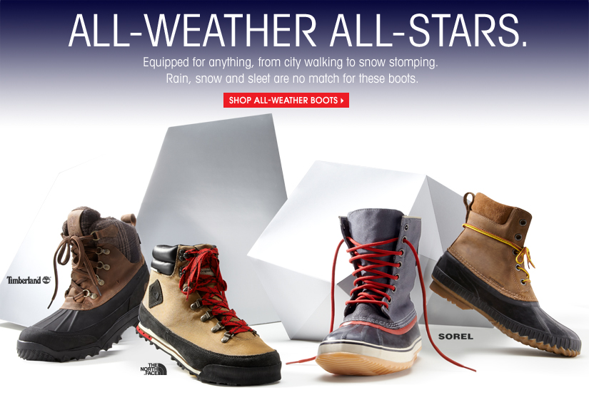 ALL-WEATHER ALL-STARS. SHOP ALL-WEATHER BOOTS