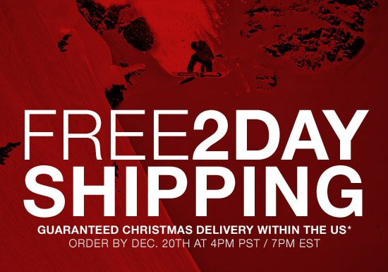 Free 2 Day Shipping. Guaranteed Christmas delivery within the US* Order by Dec. 20th at 4 PM PST / 7 PM EST