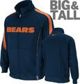 Chicago Bears Big & Tall Tailgate Time II Performance Full-Zip Jacket