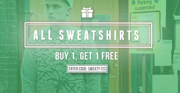 All Sweatshirts: Buy 1, Get 1 Free