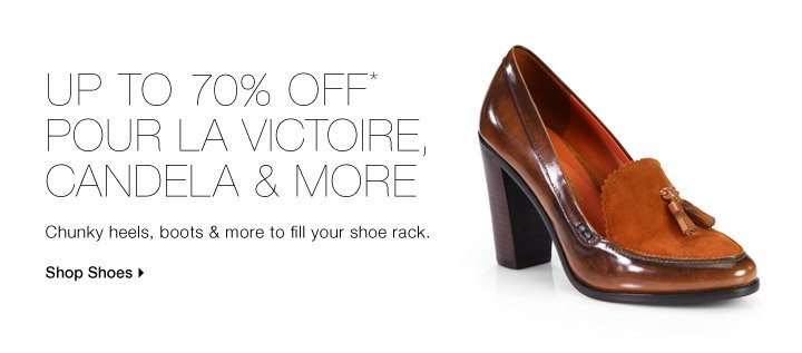 UP TO 70% OFF* POUR LA VICTOIRE, CANDELA & MORE
