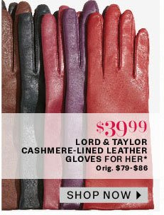 LT Cashmere-lined leather gloves for her