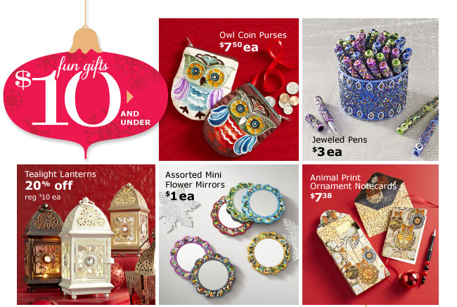 Fun gifts $10 and under