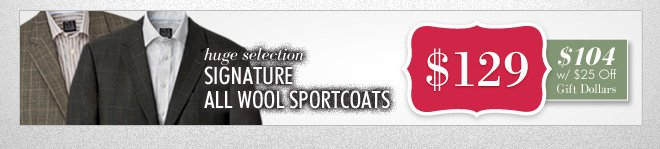 Signature All Wool Sportcoats