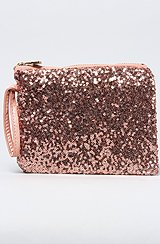 The Sequined Everything Pouch in Rose