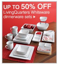 Up to 50% off LivingQuarters Whiteware dinnerware sets