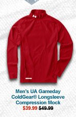 MEN'S UA GAMEDAY COLDGEAR® LONGSLEEVE COMPRESSION MOCK - $39.99