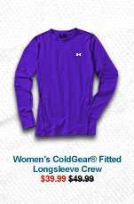 WOMEN'S COLDGEAR® FITTED LONGSLEEVE CREW - $39.99