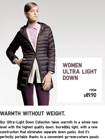 WOMEN ULTRA LIGHT DOWN