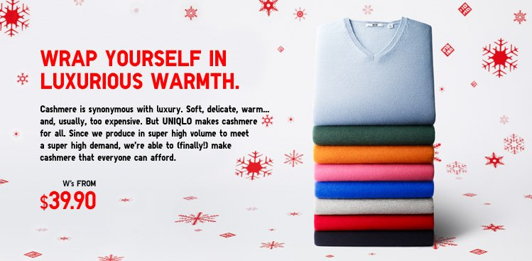 Wrap yourself in luxurious warmth. Cashmere Sweaters.