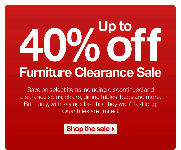 Up to 40% off Furniture Clearance