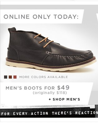 Men's Boots for $49