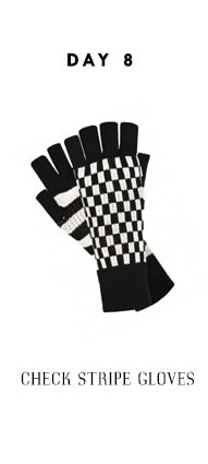 Check Stripe Gloves