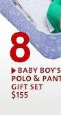 BABY BOY'S POLO & PANT GIFT SET