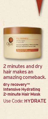 2  minutes and dry hair makes an amazing comeback dry recovery intensive  Hydrating 2 minutes maks