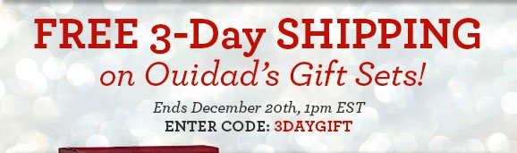FREE 3-Day SHIPPING on Ouidad's Gift Sets! - Ends December 20th, 1pm EST - ENTER CODE: 3DAYGIFT