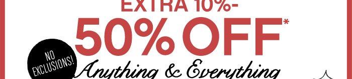 Extra 10%-50%Off