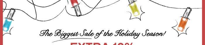 Biggest Sale of Holiday Season