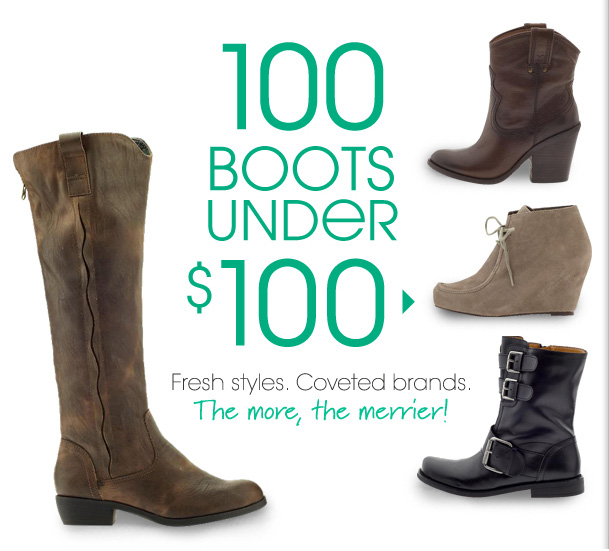 100 BOOTS UNDER $100