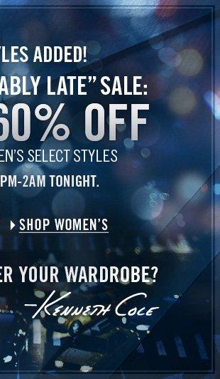 ONLINE ONLY 8PM-2AM / SHOP WOMEN'S