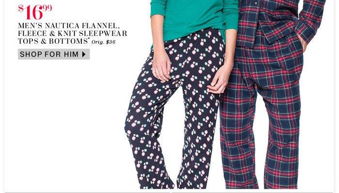 Men's Nautica Flannel, Fleece & Knit Sleepwear
