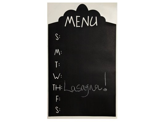 You'll find this chalkboard menu planner very helpful to schedule your meals for the week.