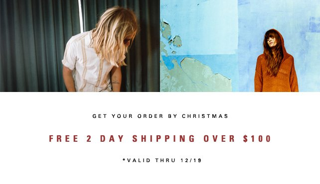 FREE 2 DAY SHIPPING OVER $100