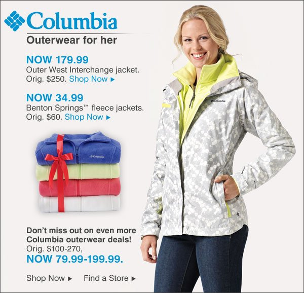 Columbia Outerwear for her
