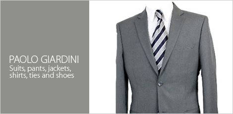 Paolo Giardini : Suits, Pants, Jackets, Shirts, Ties & Shoes