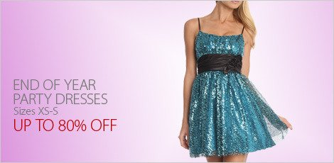 End of Year Party Dresses. XS-S
