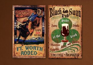 Red Horse Vintage Wooden Signs