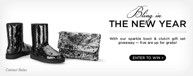 Bling in the New Year - With our sparkle boot & clutch gift set giveaway — five are up for grabs! Enter to win!