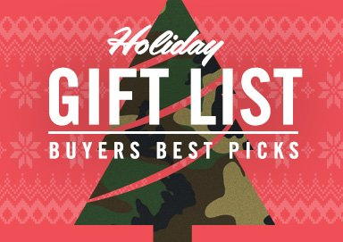Shop Holiday Gift List: Buyers Best Picks