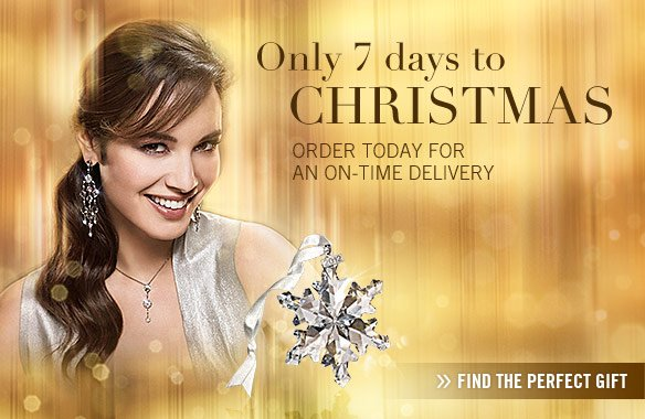 Only 7 days to Christmas – order today for an on-time delivery