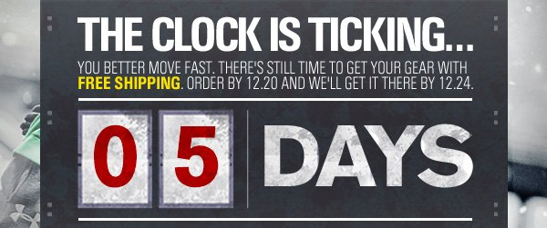 THE CLOCK IS TICKING. 5 DAYS LEFT.