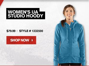 WOMEN'S UA STUDIO HOODY - $79.99 - SHOP NOW.