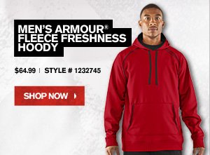 MEN'S ARMOUR® FLEECE FRESHNESS HOODY - $64.99 - SHOP NOW.
