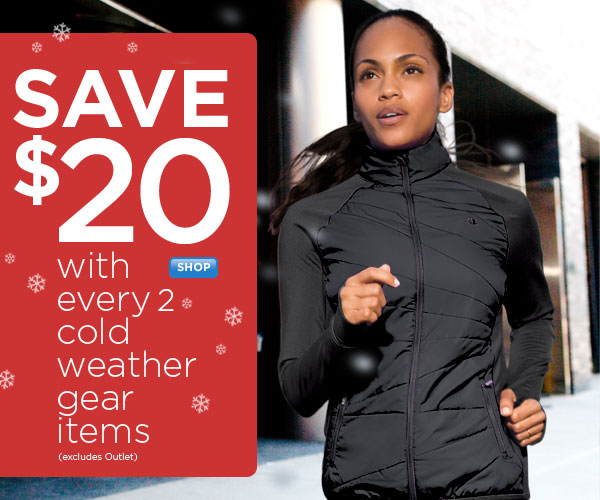Save $20 with every 2 Cold Weather Gear items