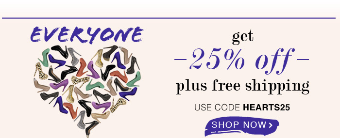 Get 25% off plus free shipping!