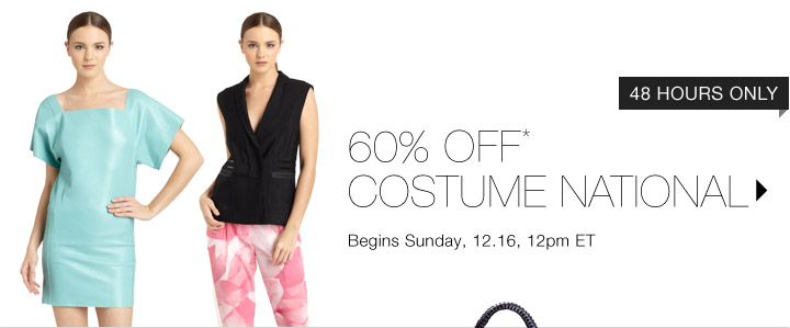 60% Off* Costume National…Shop Now