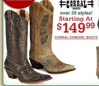 Corral Cowgirl $149.99