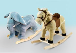 For the Animal Lover: Plush Rockers Under $50