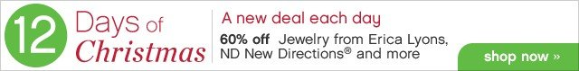 12 Days of Christmas. A new deal each day. 60% off Jewelry from Erica Lyons, ND New Directions® and more. Shop now.
