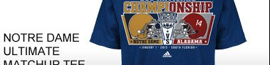 Shop Notre Dame Ultimate Matchup  Tee »
