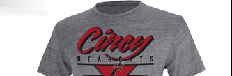 Shop Bearcats Blazing Tri-Blend  Tee »
