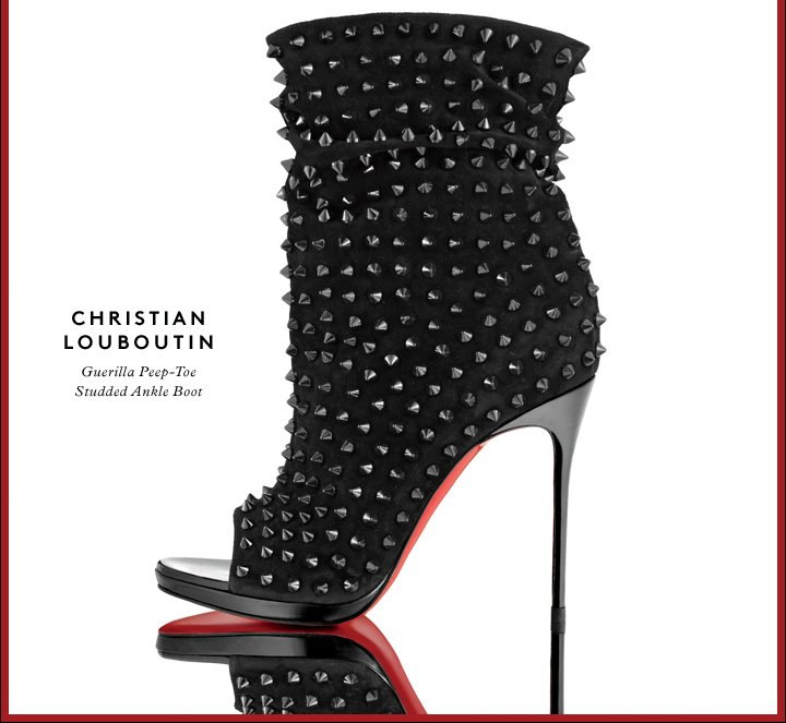 Dangerously gorgeous: Shop Christian Louboutin's spike-studded booties.