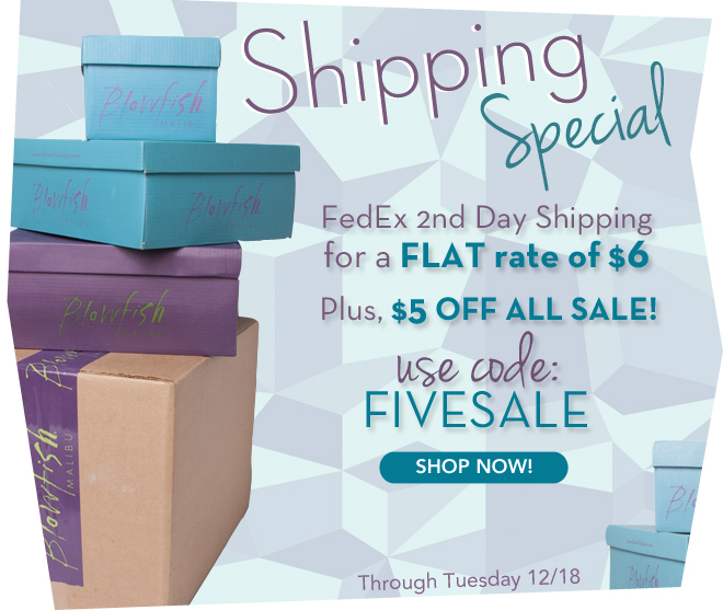 $6 for 2nd Day Shipping & $5 OFF all sale!