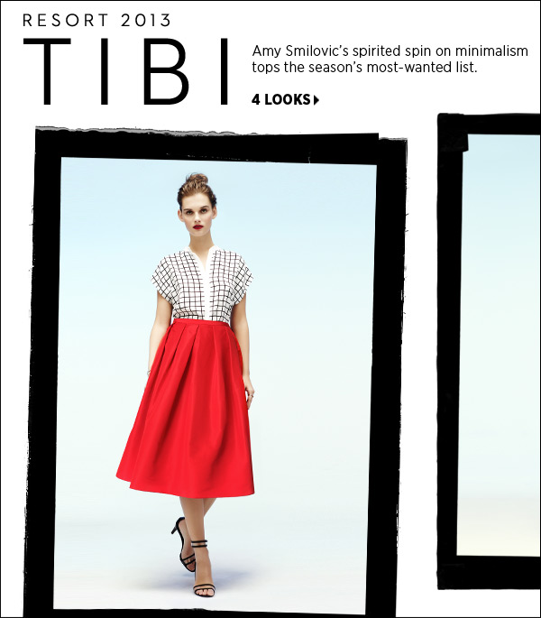 Amy Smilovic's spirited spin on minimalism tops the season's most-wanted list. Take first pick of new arrivals from Tibi's standout resort collection. Shop Tibi >>